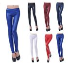 Hot women girl Ladies Stretchy Sexy Faux Leather low Waist Leggings Skinny Pants