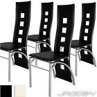 4 Dining Room Chair Set High Back Faux Leather Dinner Seat Party Cream or Black