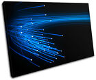 Fibre Optics Abstract SINGLE CANVAS WALL ART Picture Print VA