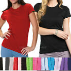 Womens T-shirt Junior's Fit Tee Shirts Crew Neck Short sleeve Top Plain Colors