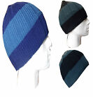 Thinsulate Knitted Warm Woolly Winter Mens Unisex Chunky Striped Beanie Head Hat