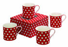 Heath McCabe Spot Design Set of 4 China Mugs in gift box various colours