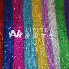 "1 meter by the yard 9mm Sequins Mesh Fabric Solid Color 51"" width DIY #20"