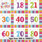 NAPKINS/SERVIETTES Age/Birthday 3 Ply Paper Luncheon Party Tablewear