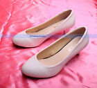 Fashion Women's White Pumps Classic High Heel Size 6 | FJUS