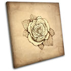 Abstract Rose Floral SINGLE CANVAS WALL ART Picture Print VA