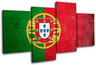 Abstract Portuguese Maps Flags MULTI CANVAS WALL ART Picture Print VA