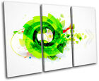 Funky Cool Design Abstract TREBLE CANVAS WALL ART Picture Print VA