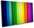 Stripes Funky Abstract TREBLE CANVAS WALL ART Picture Print VA