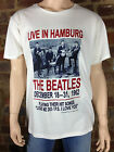 Official White Cotton Mens T-shirt The BEATLES Live In Hamburg 1962 Love Me Do