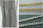 Wholesale 10pcs Silver Plated/Gold Plated/Black Chain Jewelry Findings 2x3mm