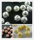 Wholesale Lot Silver plated/Gold plated/Copper Plated Spacer Bead 4/6/8/10mm