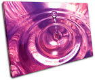 Water Splash Abstract SINGLE CANVAS WALL ART Picture Print VA