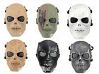 Skull Skeleton Army Airsoft Paintball BB Gun Full Face CS game Protect  Mask