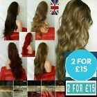 Half Wig 3/4 Wig Fall Clip In Hair Piece plum red brown white blonde wavy curly