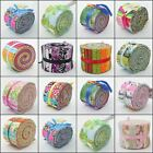 IMPORTED USA 100% CRAFT COTTON FABRIC PALLETTE JELLY ROLL QUILTING STRIPS BUNDLE