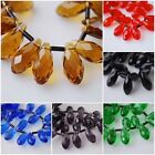 50pcs Teardrop Glass Crystal Spacer Beads Jewelry Making Pendant 8x16mm Charms