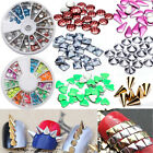 Nail Art 3D Studs Punk Style Neon Decoration Metal Rivest Tip For Manicure Decor