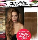 "24"" clip in hair extensions black ginger burgundy pillar plum copper rubine red"