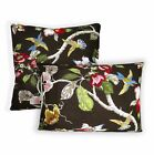 ai02a Green Pink Yellow Nude Cream Dark Brown Lily Cotton Fabric Cushion Cover