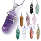 Natural Crystals Quartz Healing Point Chakra GemStone Bead Pendant for Necklace