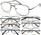 Double Bridge Metal Frame Reading Glasses +50+75+100+125+150+175+200+225+250+300