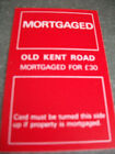 INDIVIDUAL MONOPOLY PROPERTY CARDS 1980S