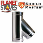 Stainless Steel Shieldmaster 135 Degree Tee Piece Twin Wall Flue Pipe