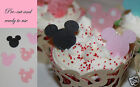 24 Pre cut Edible minnie, mickey mouse cake decorations pink Any 4th free