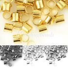20g Approx 1500/900pcs 1.5/2mm Tube Spacer Crimps End Beads Jewellery Findings