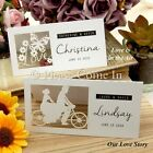 Personalised Laser Cut White Romantic Wedding Place Cards/Escort Cards