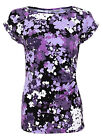 New Ex BHS Short Sleeve Purple Floral Print Blouse Top Size 10-18