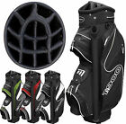 """NEW 2014 MODEL"" MASTERS T900 14 WAY 9"" DELUXE GOLF CART TROLLEY BAG ALL COLOURS"