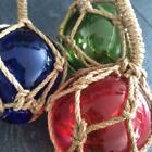 New Nautical Glass Ball in Red Blue & Green Beach Seaside Bathroom Kitchen Gift