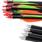 Archery Hunter Steel Arrows Red Nocks Fiberglass Hunting & Target Practice