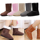 6 Colors Women Girls Gift Mid-calf Winter Warm Snow Boots Flat Shoes
