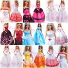 New Fashion Long Evening Dress Handmade Gown for Barbie Doll Outfit Girl gift A