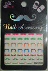 MUSTACHE 3D NAIL ART STICKERS for Movember/Parties/Fancy Dress. Support the men!