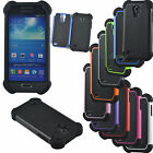 For Samsung Galaxy S4 Mini SGH-i257 (AT&T) - Shockproof Rugged Hybrid Case Cover