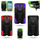 For LG G3 (2014) - Dual Layer Hard Soft Kickstand Hybrid Phone Cover Case
