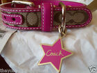 NEW COACH  SOLD OUT PINK STAR SIGNATURE EXTRA SMALL SMALL  DOG COLLAR XS S 61354