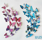 New 3D Butterfly Sticker Design Decal Wall Stickers Home Decor Decorations UK