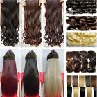 uk seller full colours clip in hair extensions straight curly human preference