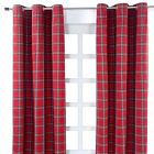 Edward Tartan Check Eyelet Ready Made Curtain Red Green Kids Children Curtains