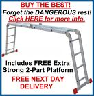 Superior 'Big Red Foot' 4.75m Multi Purpose Pro Articulated Step Ladder Ladders