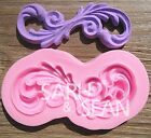 Floral silicone mold for fimo resin polymer clay fondant cake chocolate 0109G