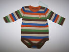 NWT GYMBOREE FOX FELLA LONG SLEEVE BODYSUIT STRIPED 100% COTTON Size 3-6 Months