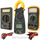 Digital LCD Multimeter Voltmeter Ammeter Clamp Meter Wire Current Tester Tool