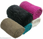 LUXURIOUS FAUX FUR SUPERSOFT LARGE FLEECE THROW BLANKET 140CM X 200CM 4 COLOURS