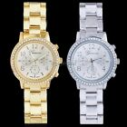 Silver Gold Women Stainless Steel Strap Wrist Watch Quartz Dress Styles 35DI